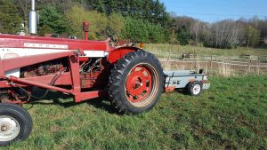 Farmall 460 and Manure Spreader